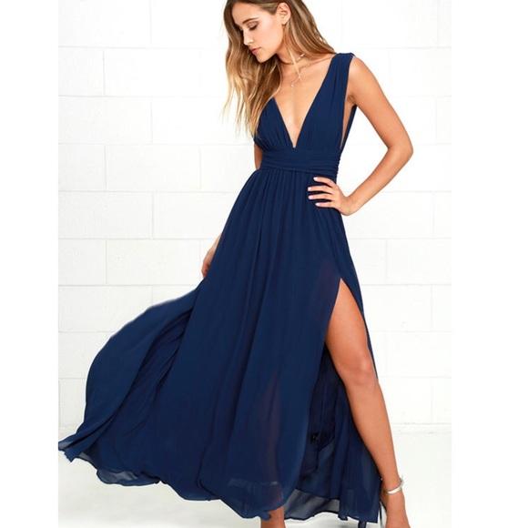 1bfb1a58b Lulu's navy blue maxi dress. Lulu's. M_5b970aea409c154ba0e9fd64.  M_5b970aec9fe48692a029469c. M_5b970aee45c8b3504ea98ec8.  M_5b970af1f63eea4072ad1d6d